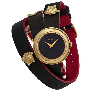 Deals on Versace V-Motif Quartz Black Dial Ladies Watch