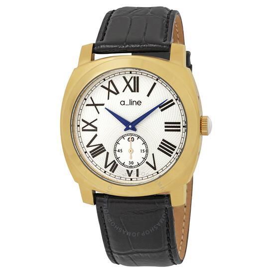A_Line Pyar Silver Dial Men's Watch AL-80023-YG-02-BK | Joma Shop