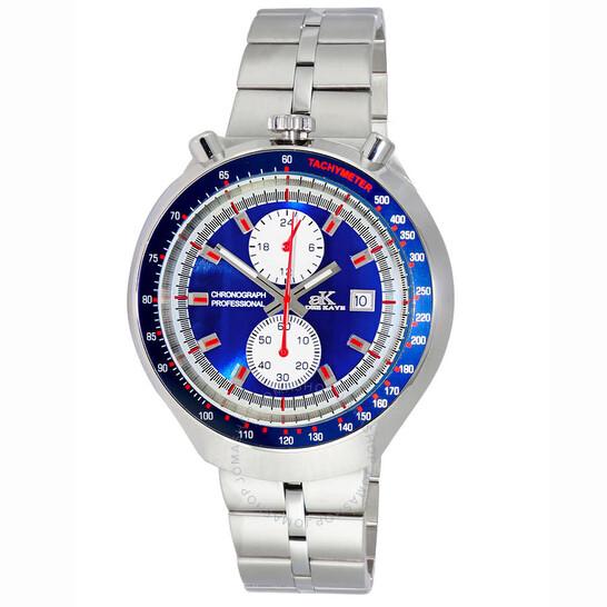 Adee Kaye Chronograph Quartz Blue Dial Men's Watch AK5562-MBU   Joma Shop