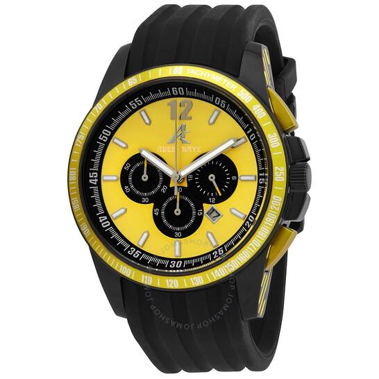 Adee Kaye Artfully Yellow Dial Men's Chronograph Watch AK7141-YL | Joma Shop