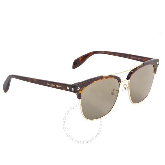 Alexander Mcqueen Ladies Sunglasses Brown Patterned (AM0126SK00257)