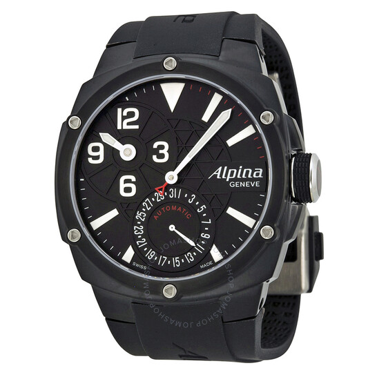 Alpina Automatic Black Dial Black Rubber Men's Watch 950LBB4FBAE6   Joma Shop