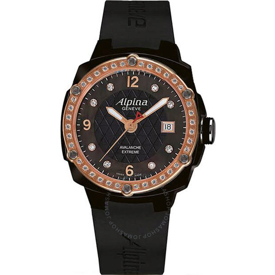 Alpina Avalanche Extreme Black Mother of Pearl Dial Ladies Watch AL-240MPBD3FBAEDC4 | Joma Shop
