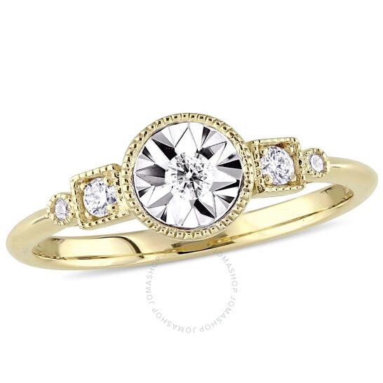 Amour 1/7 CT Diamond TW Fashion Ring 10k Yellow Gold JMS005303-0900   Joma Shop