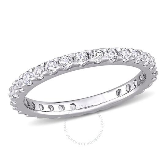 Amour 10k White Gold 1 1/3 CT TGW White Topaz Eternity Ring   Joma Shop