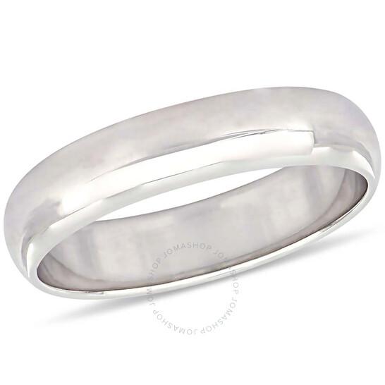 Amour 10K White Gold 5 mm Men's Wedding Band JMS005376-1100   Joma Shop