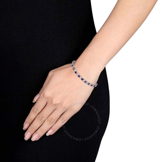 Ros\u00e9 GF and Sterling silver Beautiful bracelet with white to blue sapphire in the gradient 14k gf adjustable