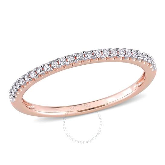 Amour 14K Pink Gold 1/8 CT TDW Diamond Eternity Ring   Joma Shop