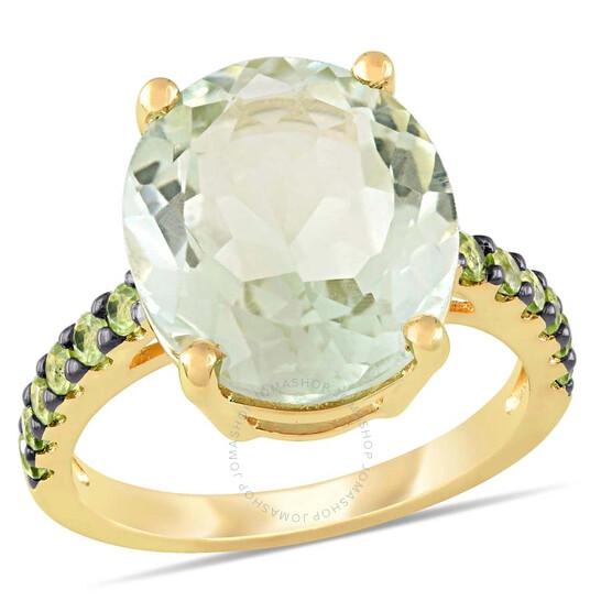 Amour 8 CT TGW Green Amethyst Peridot Fashion Ring Yellow Silver Black Rhodium Plated JMS005406-0600 | Joma Shop