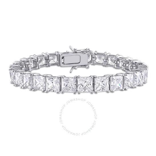 Amour Sterling Silver 56.7 CT TGW Cubic Zirconia Tennis Bracelet   Joma Shop