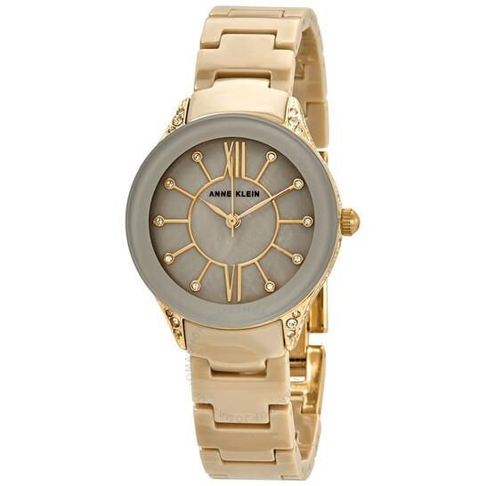 Anne Klein Beige Dial Gold-tone Ladies Watch 2388TNGB   Joma Shop