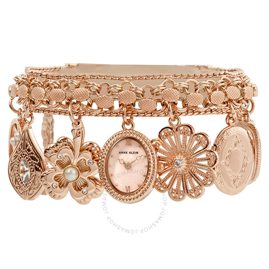 Anne Klein Ladies Charm Bracelet Watch 10-8096RMCH   Joma Shop