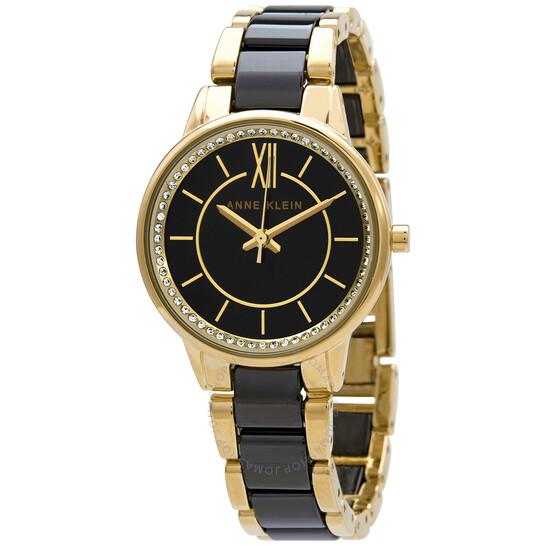 Anne Klein Quartz Black Dial Watch 3344BKGB | Joma Shop