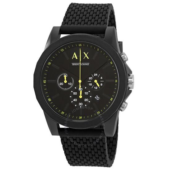 Armani Exchange Outerbanks Chronograph Quartz Black Dial Watch AX1344   Joma Shop