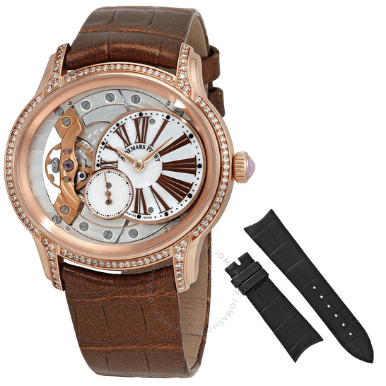 Audemars Piguet Millenary White Mother Of Pearl Dial Ladies 18 Carat Pink Gold Watch 77247OR.ZZ.A812CR.01 | Joma Shop