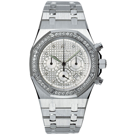 Audemars Piguet Royal Oak Chronograph Diamond 18 kt White Gold Men's Watch 25966BC.ZZ.1185BC.01 | Joma Shop
