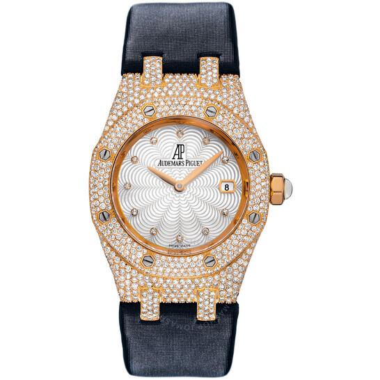 Audemars Piguet Royal Oak Diamond Mother of Pearl Dial Rose Gold Ladies Watch 67605OR.ZZ.D009SU.01 | Joma Shop