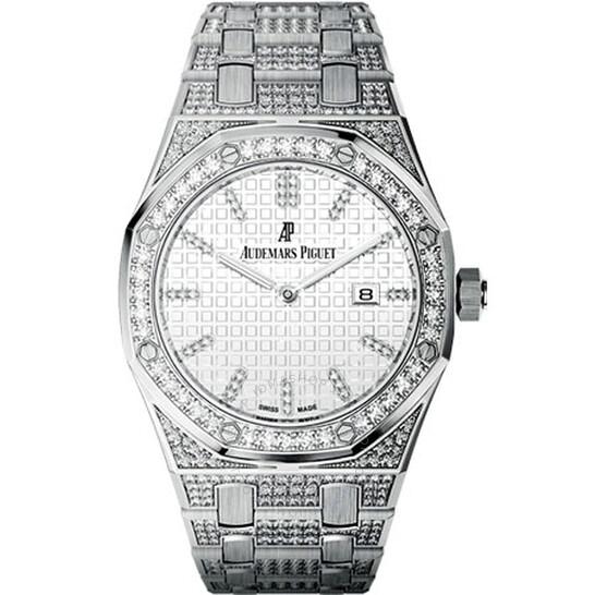 Audemars Piguet Royal Oak Lady Diamond Silver Dial White Gold Ladies Watch 67652BC.ZZ.1262BC.01 | Joma Shop