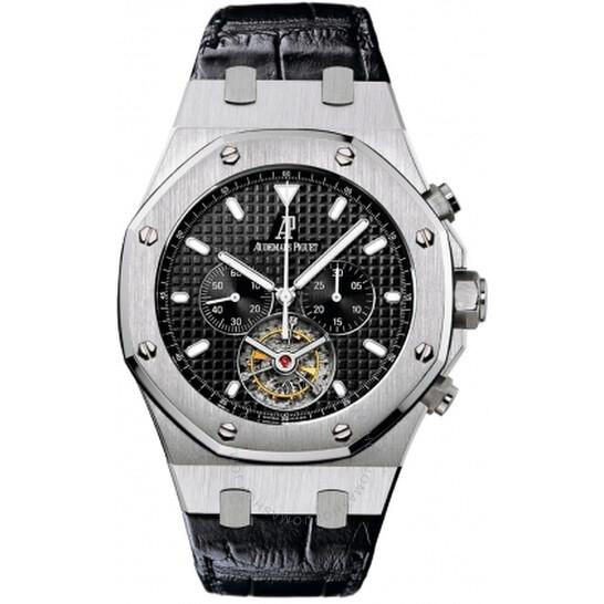 Audemars Piguet Royal Oak Tourbillon Black Dial Chronograph Men's Watch 25977ST.OO.D002CR.01 | Joma Shop