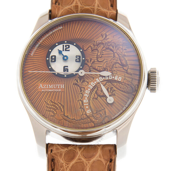 Azimuth Retrograde Minutes Dragon Automatic Brown Dial Men's Watch RRM-DRAGON-EARTH | Joma Shop