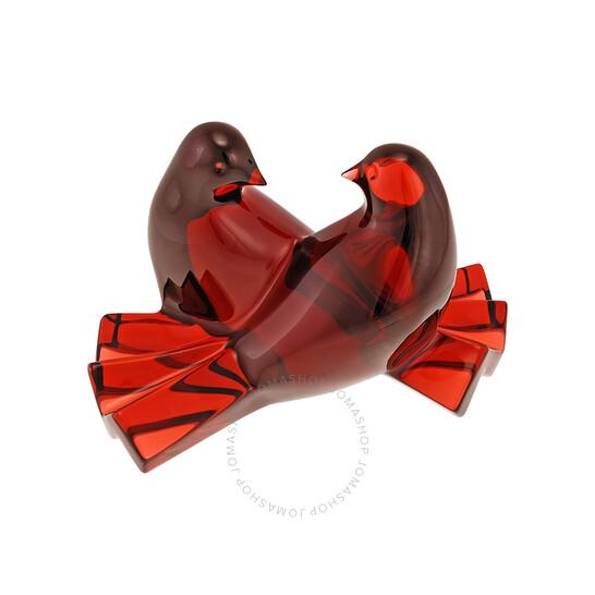 Baccarat Crystal Loving Doves Ruby Figurine 2102796   Joma Shop