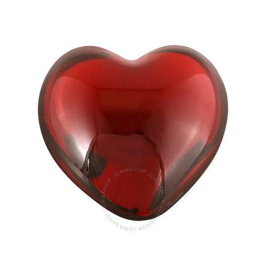 Baccarat Crystal Red Puffed Heart Paperweight 1761585   Joma Shop