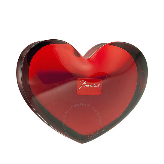 Baccarat Crystal Ruby ZinZin Heart Large 2103967 | Joma Shop