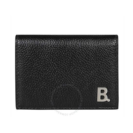 Balenciaga Mini B Leather Tri-fold Wallet