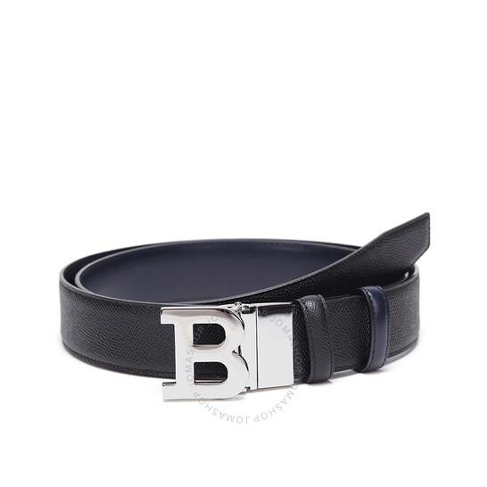 Bally Black Iconic B Buckle 110 CM Belt