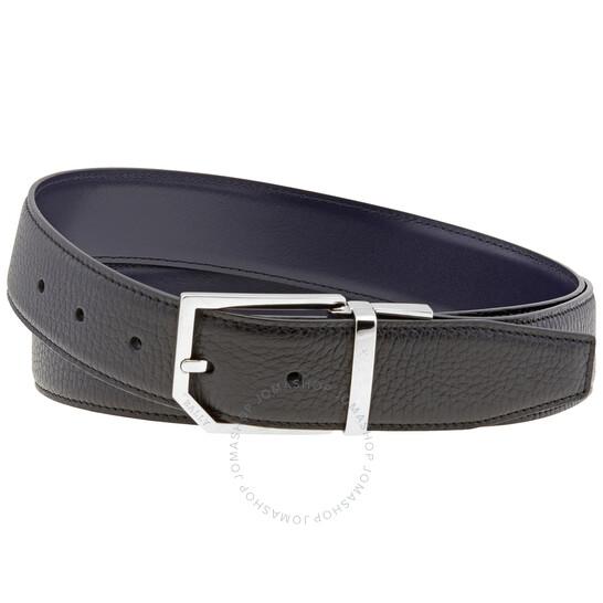 Bally Men's Black Charlton Reversible 35mm Belt, Brand Size 110 CM
