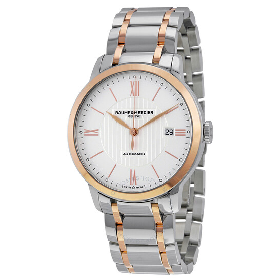 Baume Et Mercier Classima Automatic Stainless Steel and 18kt Rose Gold Men's Watch 10217 | Joma Shop