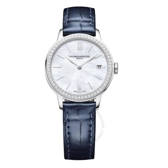Baume Et Mercier Classima Yea Quartz Diamond White Mother of Pearl Dial Ladies Watch 10544   Joma Shop