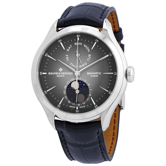 Baume Et Mercier Clifton Automatic Moon Phase Date Grey Dial Men's Watch 10548   Joma Shop