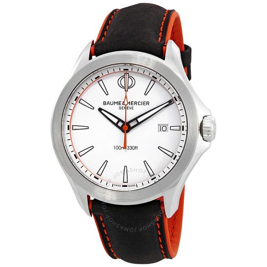 Baume Et Mercier Clifton White Dial Men's Watch 10410 | Joma Shop