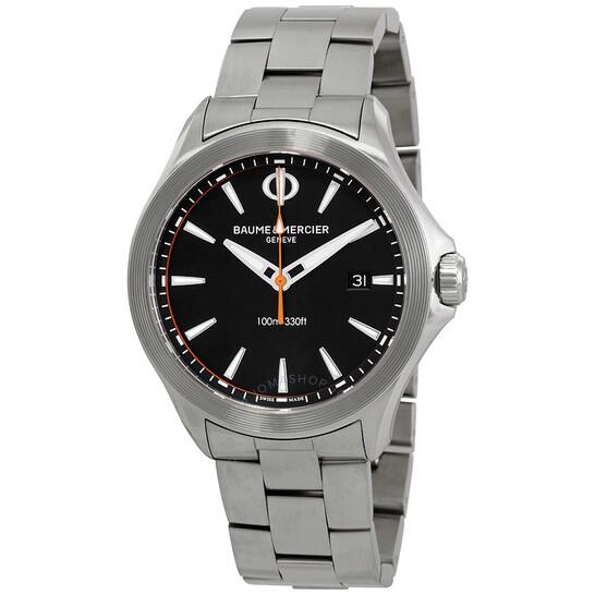 Baume Et Mercier Clifton Black Dial Men's Watch 10412   Joma Shop