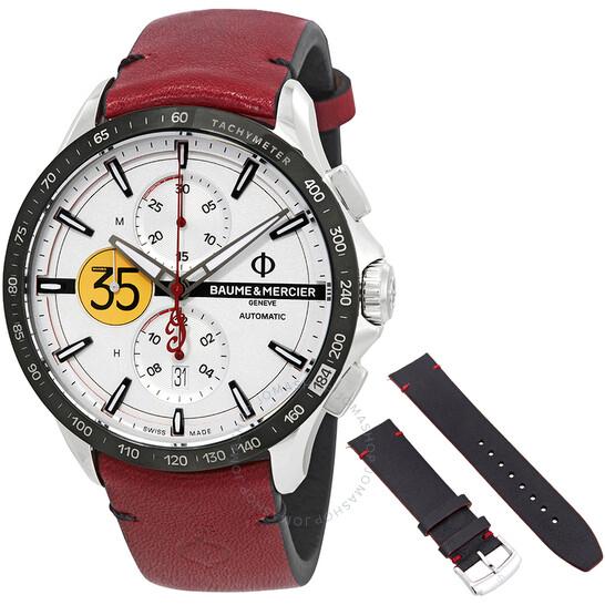 Baume Et Mercier Limited Edition Clifton Chronograph Automatic Silver Dial Men's Watch 10404   Joma Shop