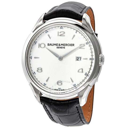 Baume Et Mercier Clifton Date Silver Dial 45 mm Men's Watch 10419 | Joma Shop