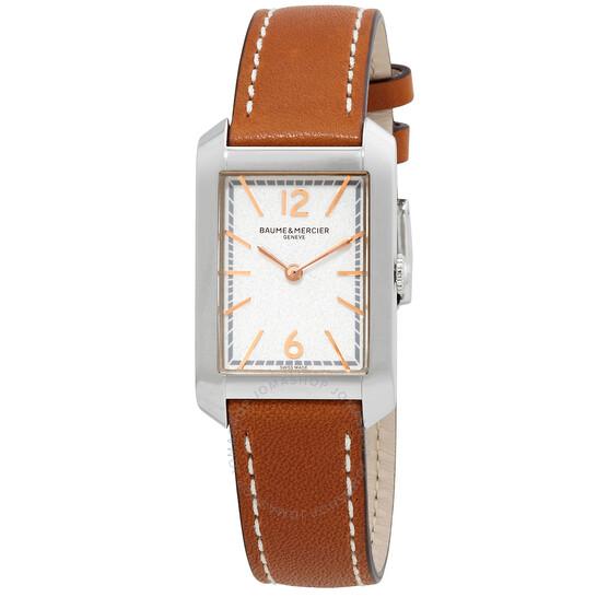 Baume Et Mercier Hampton Quartz Silver Dial Ladies Watch 10472 | Joma Shop