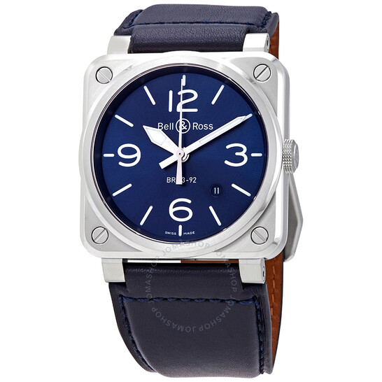 Bell And Ross Aviation Automatic Blue Dial Men's Watch BR0392-BLU-ST/SCA | Joma Shop