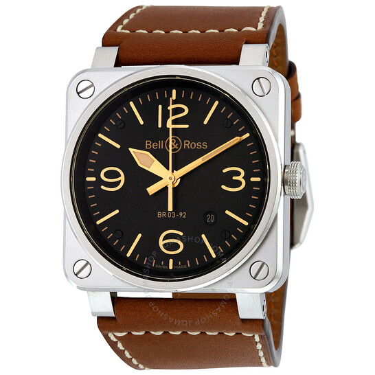 Bell And Ross Aviation Gold Heritage Men's Watch BR0392-GOLD-HER   Joma Shop