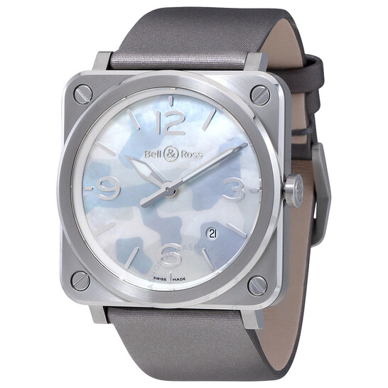 Bell And Ross Aviation Grey Camouflage Mother of Pearl Dial Ladies Watch BRS-CAMO-ST | Joma Shop
