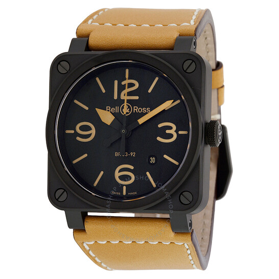 Bell And Ross Instrument Heritage Black Dial Automatic 42MM Men's Watch BR-03-92-HERITAGE | Joma Shop