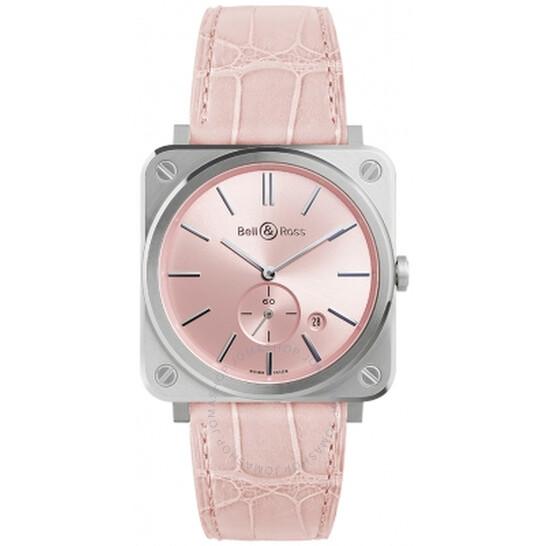 Bell And Ross Novarosa Quartz Pink Dial Ladies Watch BRS-PK-ST/SCR | Joma Shop
