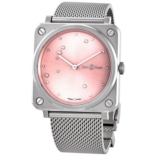 Bell And Ross Pink Diamond Eagle Quartz Pink Dial Ladies Watch BRS-EP-ST/SST   Joma Shop