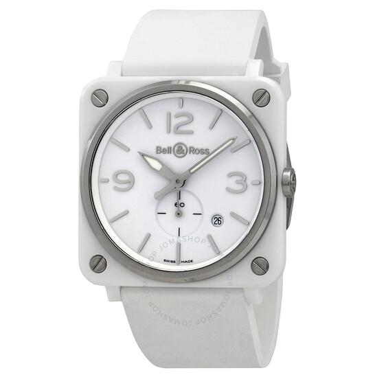 Bell And Ross Quartz White Dial Men's Watch BRS-WH-CES/SCA   Joma Shop