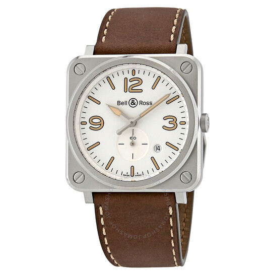 Bell And Ross Steel Heritage S White Dial Men's Watch BRS-WHERI-ST/SCA | Joma Shop