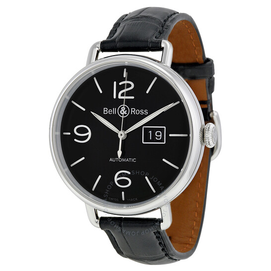 Bell And Ross WW1 Grande Date Black Dial Automatic Men's Watch BRWW196-BL-ST   Joma Shop