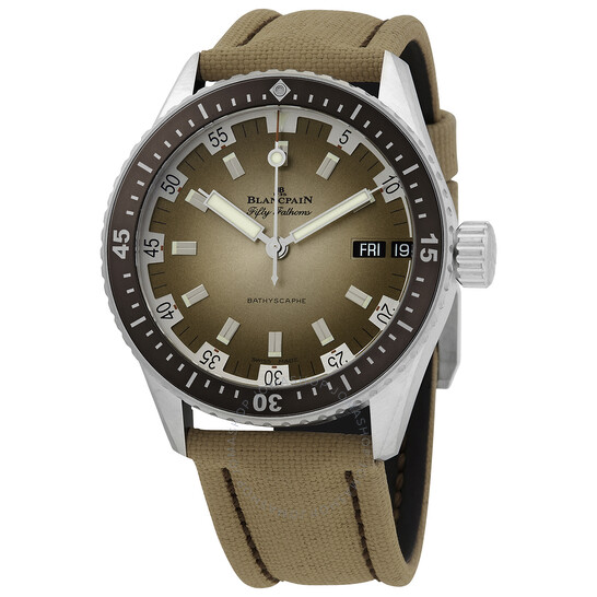 Blancpain Fifty Fathoms Bathyscaphe Automatic Watch 5052 1146 E52A   Joma Shop