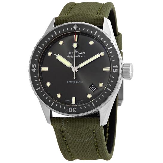 Blancpain Fifty Fathoms Bathyscaphe Meteor Grey Dial Automatic Men's Watch 5000-1110-K52A   Joma Shop