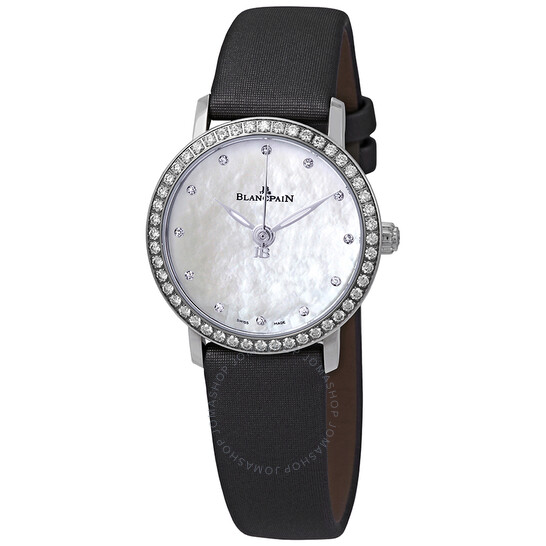 Blancpain Ultraplate Automatic Mother of Pearl Dial Diamond Ladies Watch 6102-4654-95A | Joma Shop